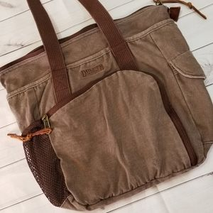 Duluth Trading Co Brown Canvas Travel Tote Bag